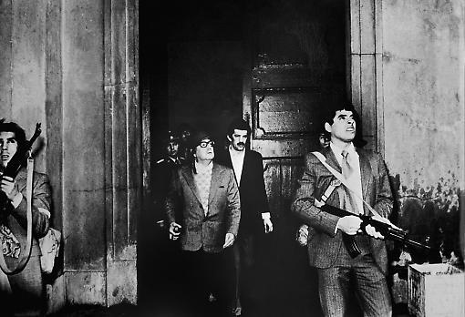 The last known photograph of Allende alive, La Moneda Palace, 1 April 1973. Photograph: Gamma-Keystone via Getty Images