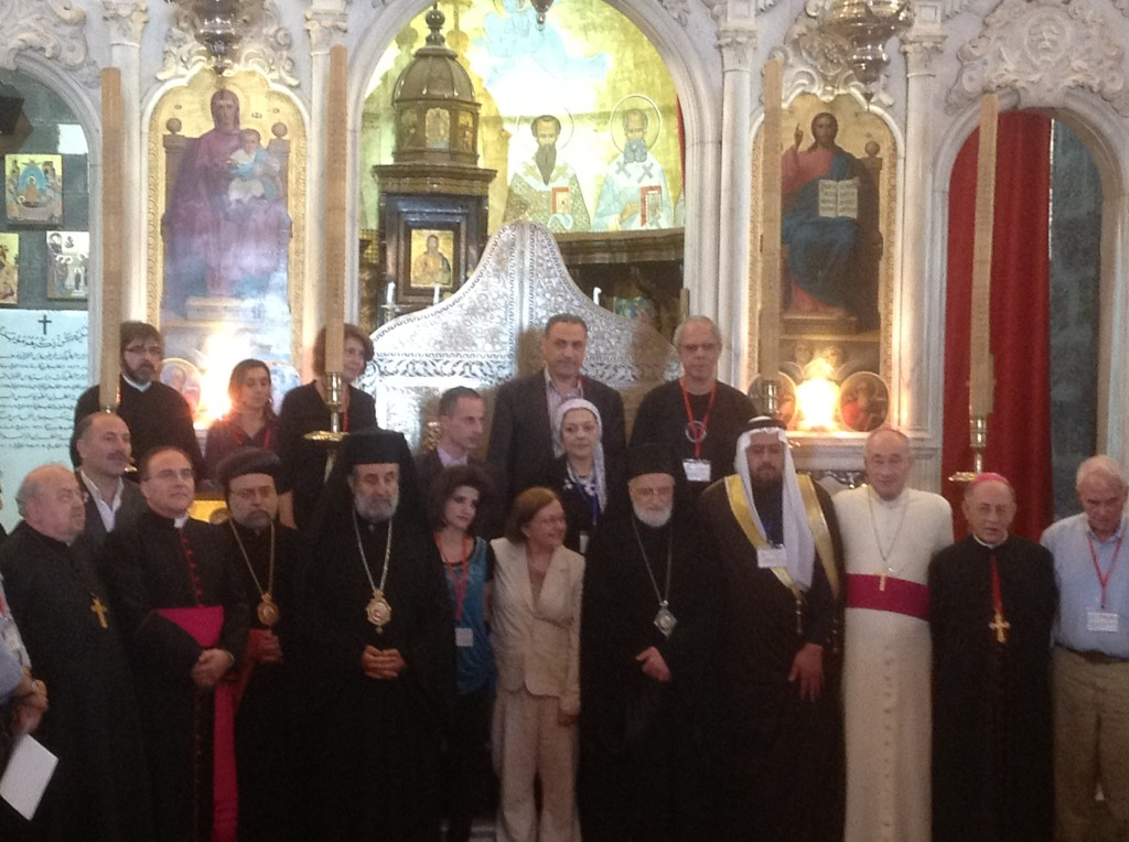 Ecumenical Service at the Melkite Greek Catholic Church Patriarchate (our hosts)