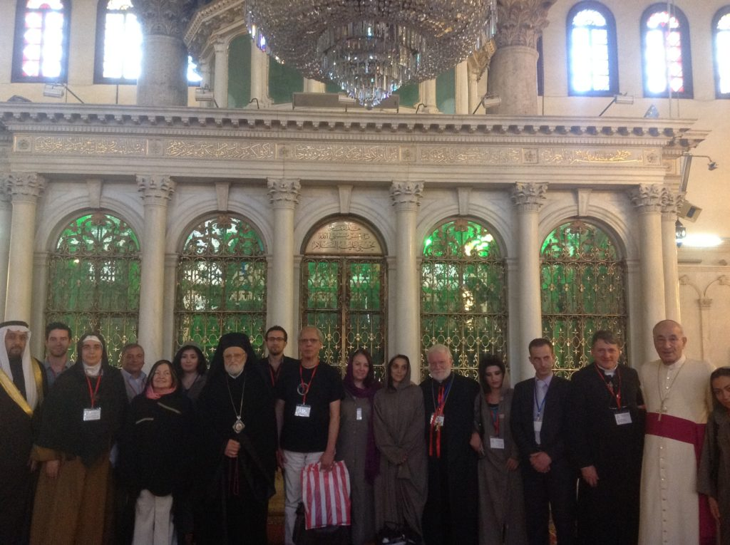 At Umayyad Mosque, Damascus - In front of the shrine that contains the head of John the Baptist, who baptized Jesus.