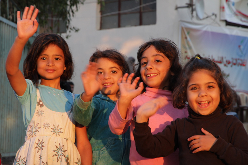 Children at Bekaa Valley refugee camp.