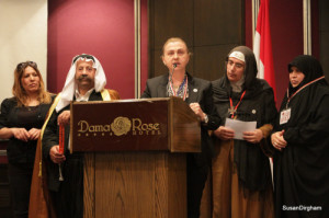 Some relatives of victims of 'rebels' tell their stories to the Mussalaha Delegation.