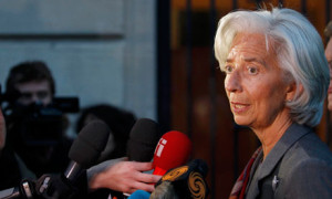 IMF chief Christine Lagarde. Greek media recently quoted her describing 2011 as a 'lost year', partly because of IMF mistakes. Photograph: Stephane Mahe/Reuters