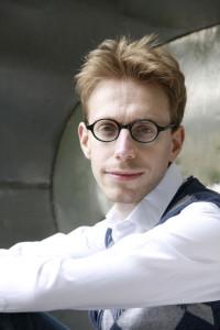 Daniel Tammet. Portrait by Jerome Tabet.