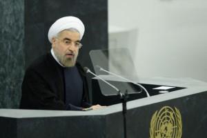Hassan Rouhani addresses the UNGA.