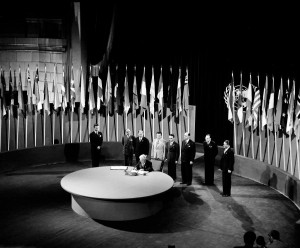 Signing of the UN Charter in 1945