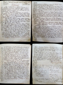 Alfred Nobel's original handwritten will. Image courtesy of Molly Oldfield / The Nobel Foundation