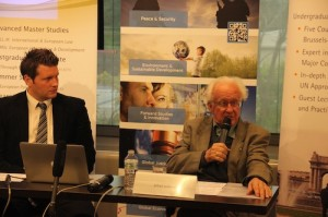 "Professor Johan Galtung, principal founder of the field of peace studies, gave his lecture on ""The European Union Foreign Policy of my Dreams""."