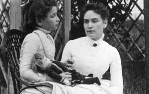 Helen Keller and Ann Sullivan