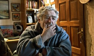 José Mujica, the Uruguayan president, at his house in Montevideo. Photograph: Mario Goldman/AFP/Getty Images