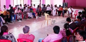 Reading Idinthakarai Resolution – Anitha S., Melrit, Sundari, Tamizh, Xaviearmmal, Mary, Udayakumar, Pushparayan, Milton.