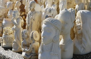 Hundreds of carved religious ornaments were among the six tons of ivory crushed by the U.S. in November 2013. (Rick Wilking/Reuters)