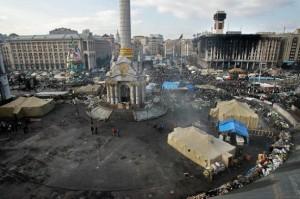 Independence Square in Kiev on Feb. 24, 2014. Credit: Natalia Kravchuk/IPS