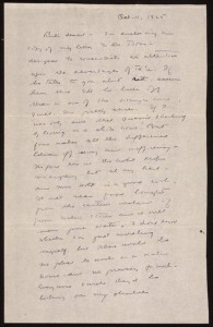 Letter from Margaret Mead to Ruth Benedict, October 1925 (Library of Congress)