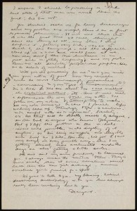 Letter from Margaret Mead to Ruth Benedict, January 1926 (Library of Congress)