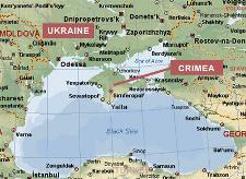 mapa ucrania crimeia