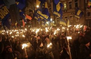 Svoboda demonstrating