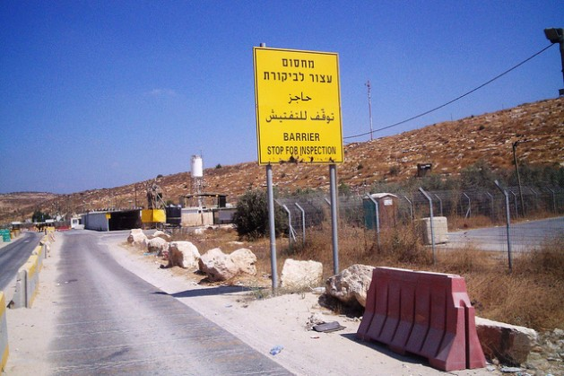A road in Ramallah meant for Palestinians complete with checkpoint, May 24, 2010. The main highways are reserved for Israeli settlers. Mel Frykberg/IPS