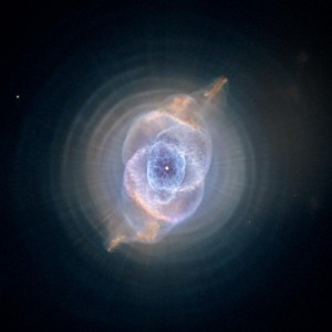 The Cat's Eye Nebula, one of the first planetary nebulae discovered, from 'Hubble: Imaging Space and Time.'