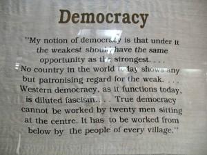 Mohandas K. Gandhi's famous statement
