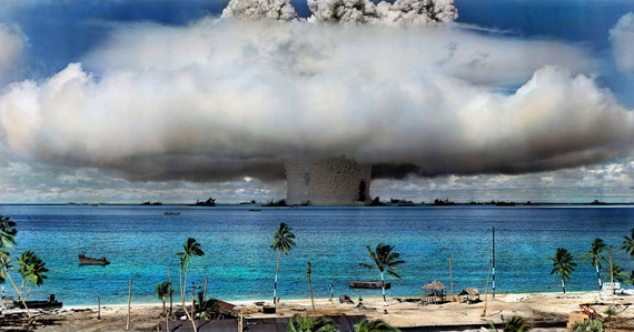 U.S. Atomic Bomb Test, Bikini Atoll, the Marshall Islands, 1946. Courtesy: Flikr Creative Commons