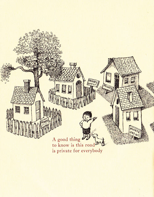 Illustration by Maurice Sendak for 'Open House for Butterflies' by Ruth Krauss.