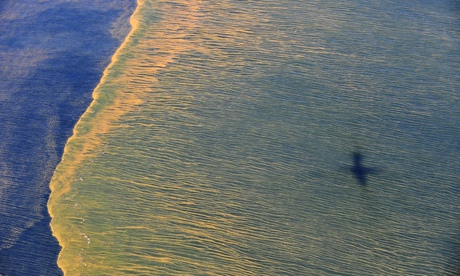 Oil on the surface of the Gulf of Mexico in an aerial view of the Deepwater Horizon oil spill off the coast of Mobile, Alabama. Photograph: Reuters