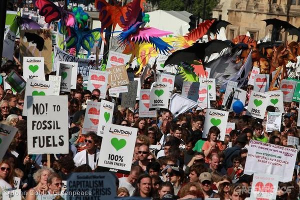 Greenpeace at London Climate March