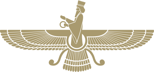 The faravahar is one of the best-known symbols of Zoroastrianism, the state religion of ancient Iran.