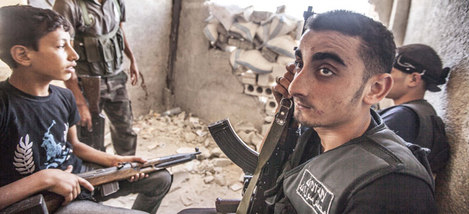 Free Syrian Army fighters, Aleppo, July 2013 (Dona_Bozzi / Shutterstock)