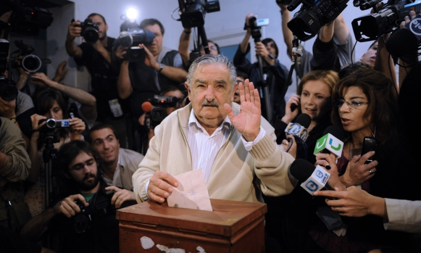 José Mujica casts his vote during the presidential election in 2009. Photograph: Migual Rojo/AFP/Getty Images