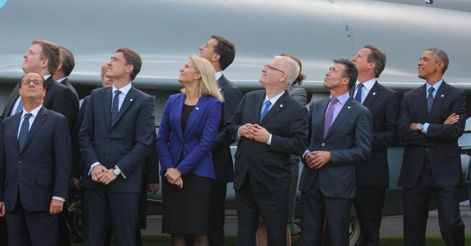 NATO leaders pose for a picture outside their summit last week in Newport, Wales. (Photo: Flickr / NATO)