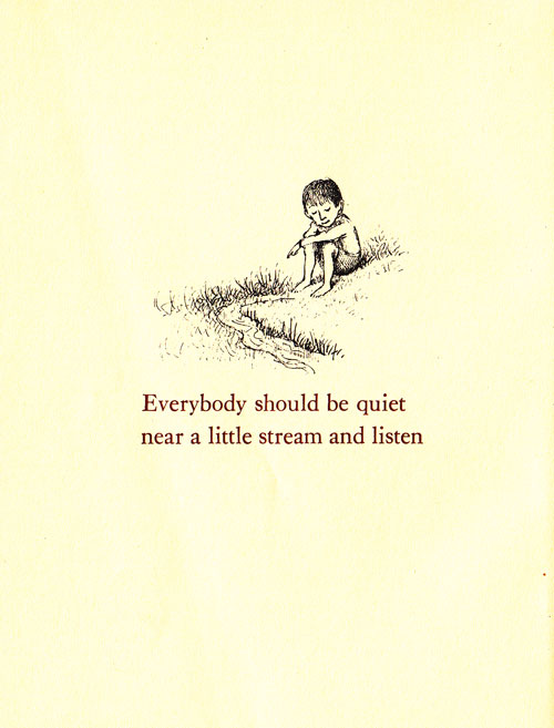 Illustration by Maurice Sendak from 'Open House for Butterflies' by Ruth Krauss.