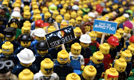 Lego has said it won't be renewing its relationship with Shell Oil. Photograph: Jiri Rezac/Greenpeace/PA