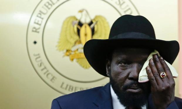 South Sudan's president, Salva Kiir. Photograph: Goran Tomasevic/Reuters