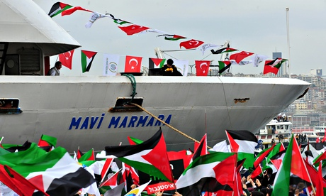 The Mavi Marmara arrives in Istanbul in December 2010. The Israeli navy raided the vessel, part of a flotilla of aid ships bound for Gaza, killing several passengers. Photograph: AFP/Getty