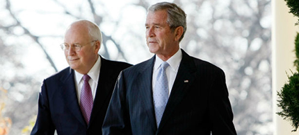 George W. Bush and Dick Cheney in 2007. (photo: Win McNamee/Getty Images)
