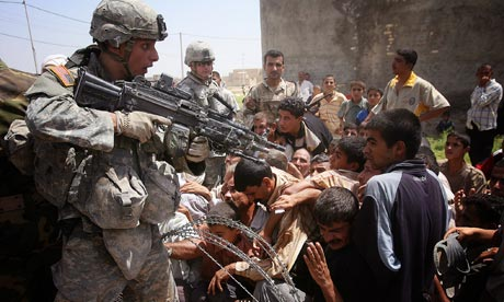 """'We """"stabilise"""" countries when we invade them and destroy them.' Photograph: Olivier Laban-Mattei/AFP/Getty Images"""