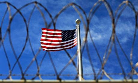 The US flag flying at Guantanamo Bay