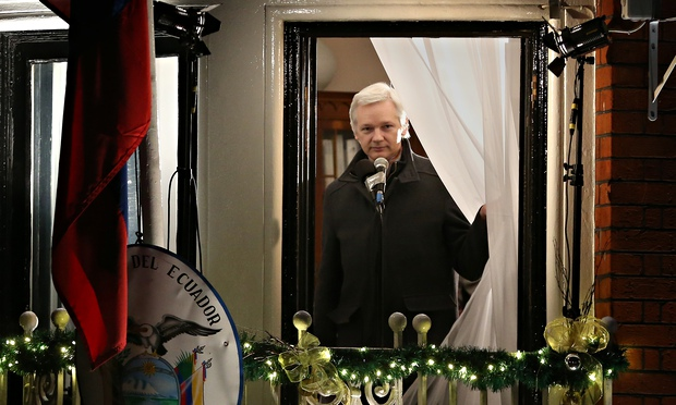 Julian Assange sought political asylum in Ecuador's London embassy in June 2012. Photograph: Peter Macdiarmid/Getty Images