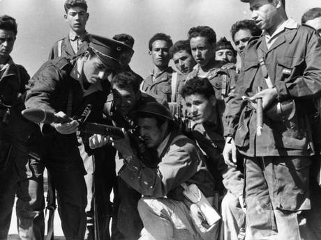 Algerian rebels training to use weapons in 1958 (Getty Images)