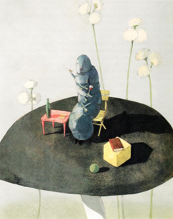 Illustration for 'Alice in Wonderland' by Lisbeth Zwerger.