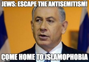 bibi netanyahu israel antisemitism islamophobia europe holocaust