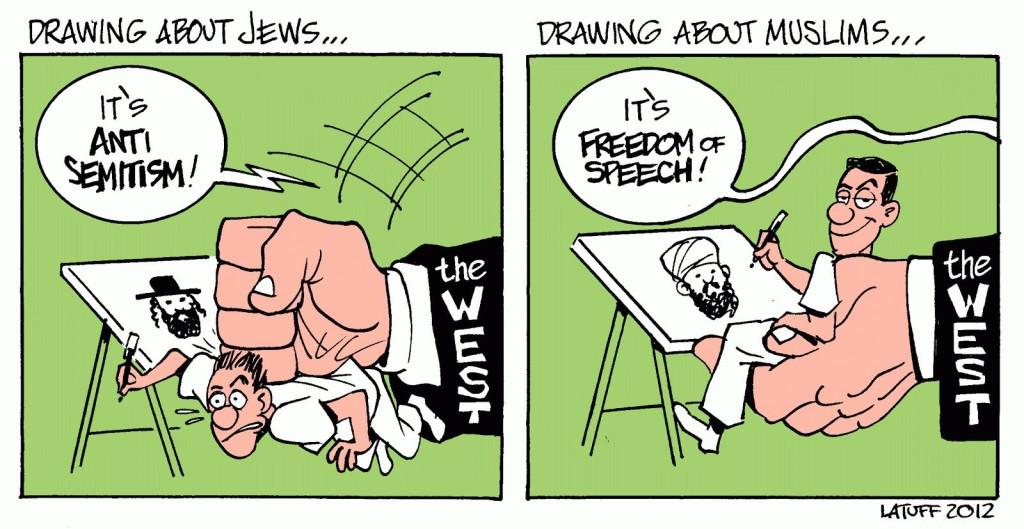 charlie cartoon antisemit islamophobe speech3