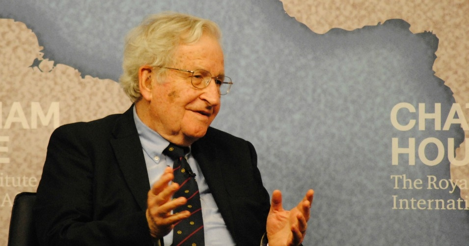 Noam Chomsky speaking in May, 2014.  (Photo:  Chatham House/fickr/cc)