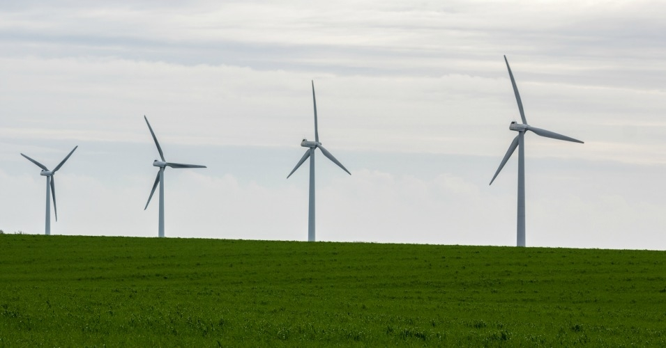 Wind turbines in a field in Denmark. (Photo:  Alex Berger/flickr/cc)