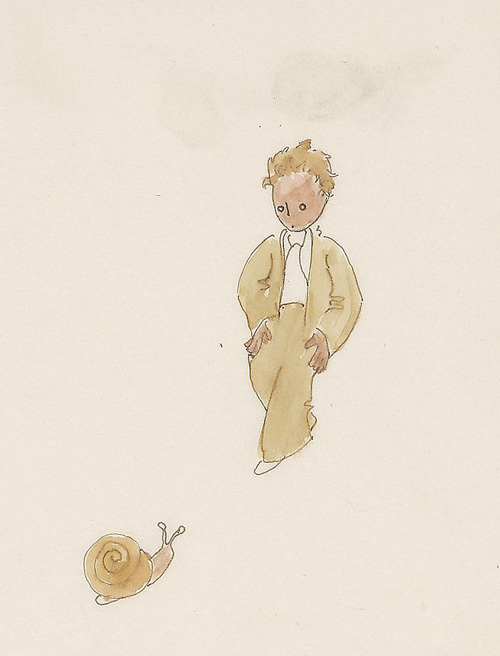 One of Antoine de Saint-Exupéry's original watercolors for The Little Prince.