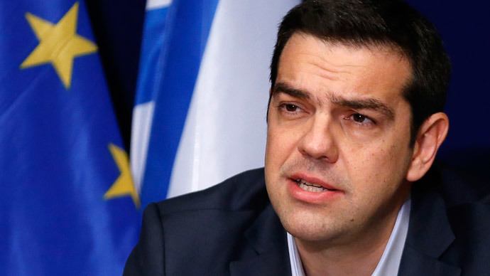 Greek Prime Minister Alexis Tsipras addresses a news conference after a European Union leaders summit in Brussels February 12, 2015. (Reuters / Francois Lenoir)