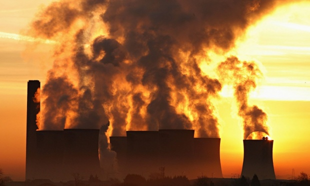 'Global warming is real and is being caused by humans, mainly by burning coal, oil, petrol and natural gas, which puts carbon dioxide, a greenhouse gas, into the atmosphere.' Photograph: Phil Noble/Reuters