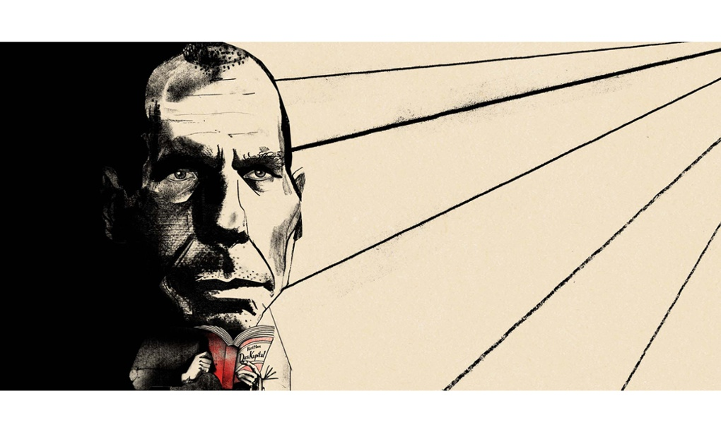 Yanis Varoufakis. Illustration by Ellie Foreman-Peck