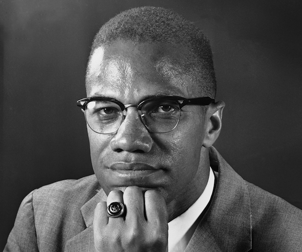 Malcolm X about two weeks before he was murdered on 21 Feb 1965. AP/Victor Boynton